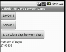 Calculate the days between dates using the DatePicker and
