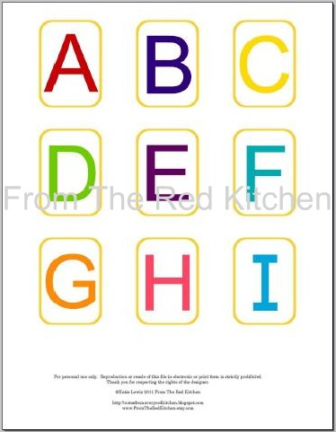 The Red Kitchen You Asked For It Alphabet Flashcards PDF
