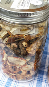 Some of the offerings at the Hollywood Farmers market on Saturdays - mushroom mixes
