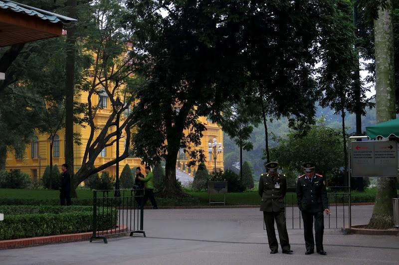 Guards at Ho Chi Minh's mansion