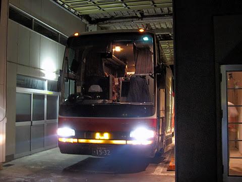 北海道中央バス「イーグルライナー」 1532 ウトロ温泉バスターミナル改札中