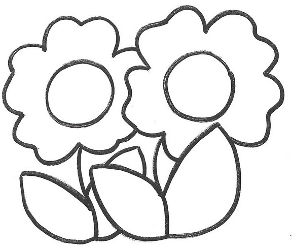 Pinto Dibujos: Moldes para flores de fomy