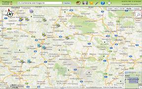 Suchergebnisanzeige auf der Karte