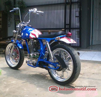 Modifikasi Honda CB 100 Jadul_9