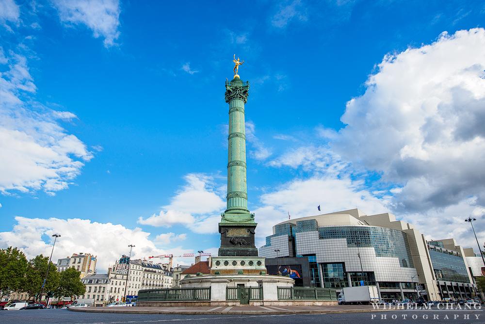 到巴黎攝影 巴士底廣場與七月圓柱 Place de la Bastille column de juillet
