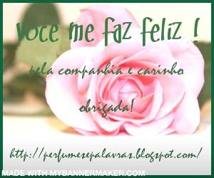 """Selinho """"Voce me faz feliz"""", presente do amigo Arnoldo Pimentel"""