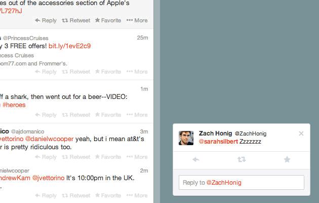 Twitter experimenta con notificaciones pop-up en su web