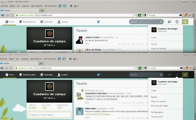 Volviendo Twitter a su cabecera negra