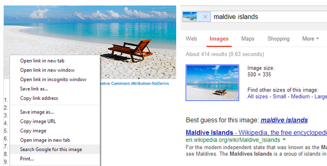 Google Chrome Search by Image