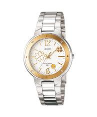 Jam Tangan Wanita Tali Kulit Biru Casio Standard : LTP-V300L-2A