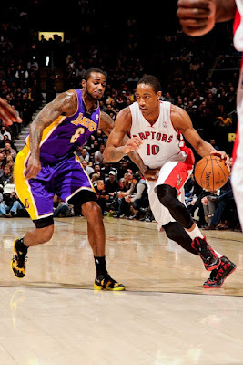 wearing brons nba lebron10 bred demar derozan 04 Wearing Brons: Breds, Carbons, Canaries, Xmas, IDs and More!
