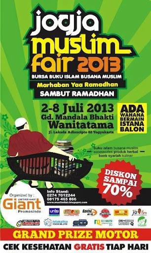 Jogja Muslim Fair 2013 Sambut Ramadhan