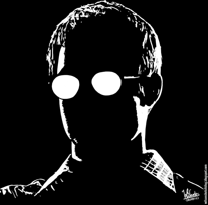 Ink drawing of Kevin (Sin City), using Krita 2.4.