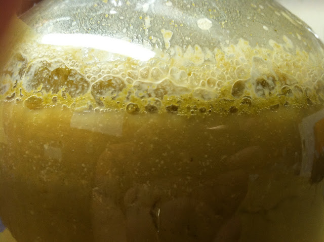 just three hours after pitching the yeast