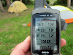 GPS stats and end of hike