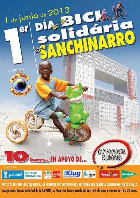 Día de la Bici solidaria en Sanchinarro, sábado 1 de junio 2013