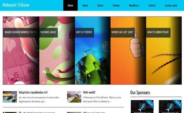 Mahasoli Tribune WordPress Theme