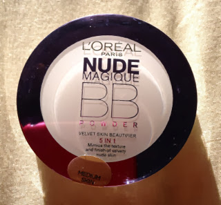 The front of L'Oreal Paris Nude Maqique BB Powder