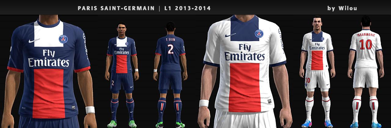 Paris Saint-Germain Kits 2013-14 - PES 2013