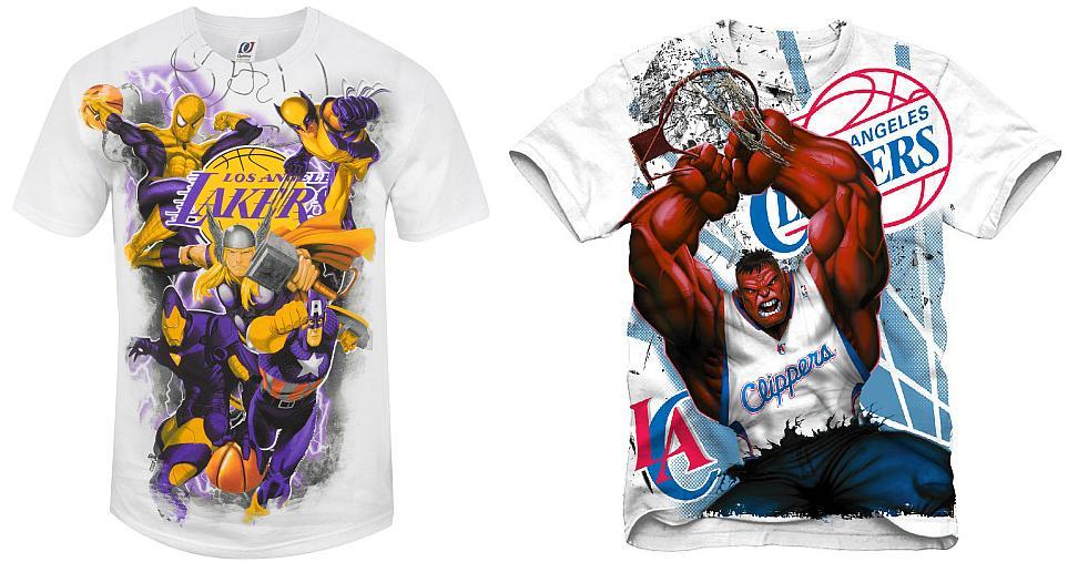 d07e3de594e The Blot Says...: The Marvel x NBA Clothing Collection