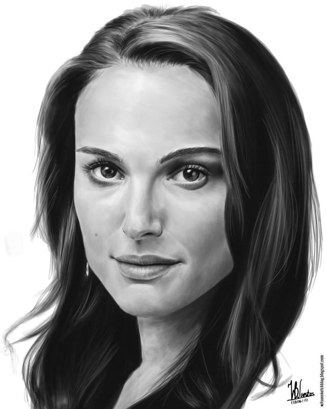 Digital painting of Natalie Portman, using Krita 2.7 Alpha.