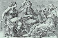 Η πρώτη Μοίρα, η Κλωθώ συμβολίζει και το παρόν, γνέθει το νήμα της ζωής, η δεύτερη, η Λάχεσις το παρελθόν, μοιράζει τους κλήρους, καθορίζει τι θα «λάχει» στον καθένα εξού και λαχείο. Η τρίτη Μοίρα, τέλος, η Άτροπος το μέλλον, κόβει χωρίς τον παραμικρό δισταγμό, όταν έρθει η ώρα, την κλωστή της ζωής των ανθρώπων.