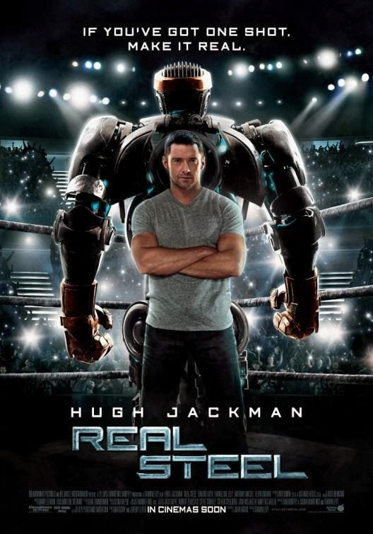 Poster Of Real Steel (2011) Full Movie Hindi Dubbed Free Download Watch Online At Alldownloads4u.Com