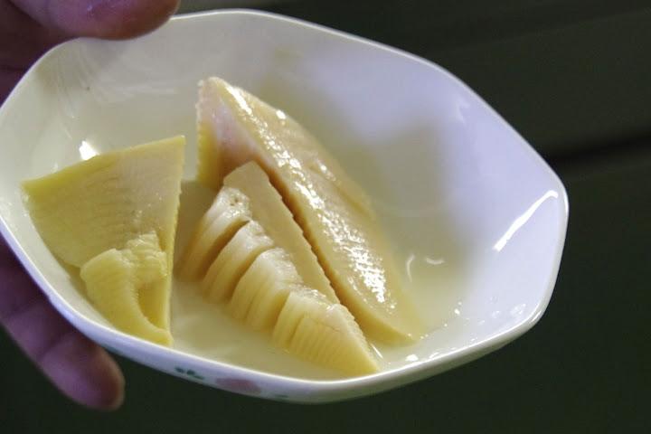 米糠を使って煮た「タケノコ」