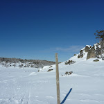 Snow poles and boulders (300631)