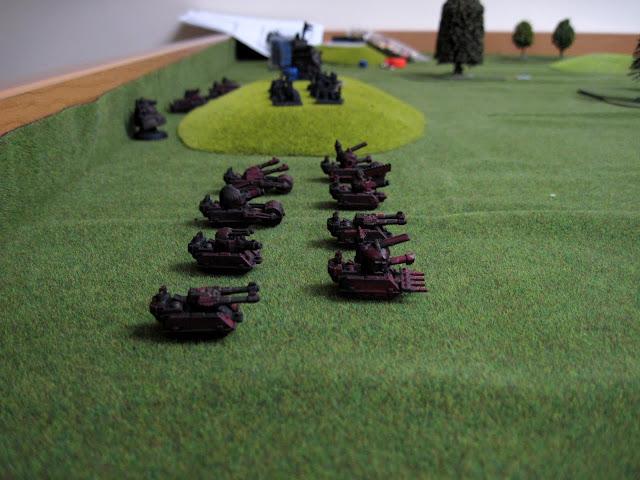 Scarik's Blitz Brigade on the starting line.