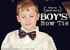 Boy's Bow Tie Tutorial