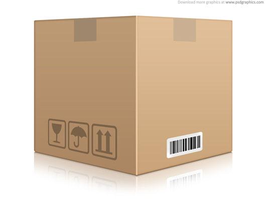 Caixa de papelão download psd