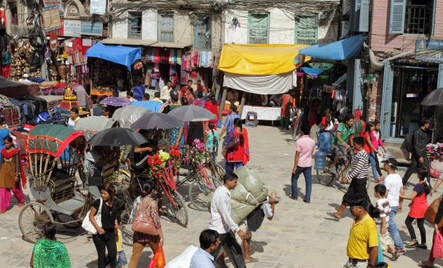 Street Action at a local market in Kathmandu, Nepal