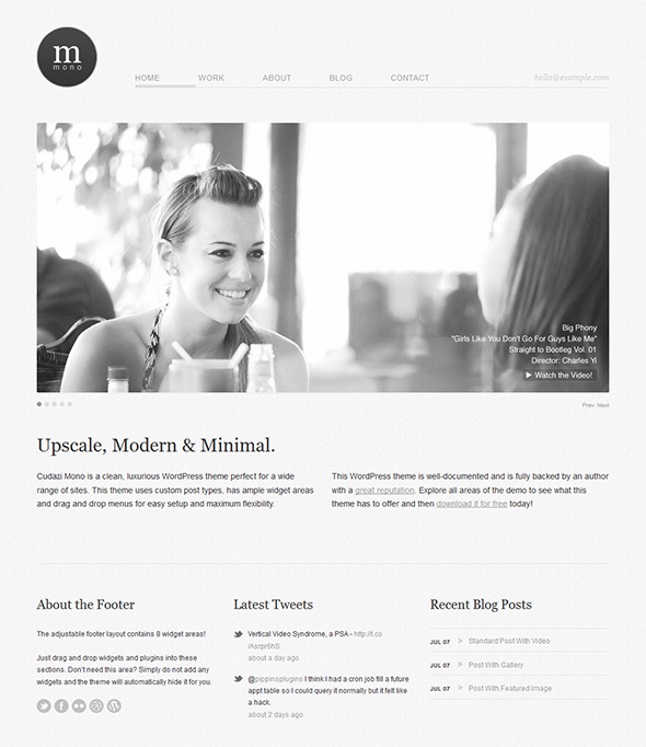 Cudazi Mono Clean WordPress Theme