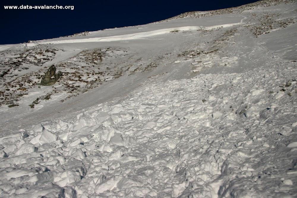 Avalanche Vanoise, secteur Dent Parrachée, Face Ouest de l'Arête de Bellecôte - Photo 1 - © Duclos Alain