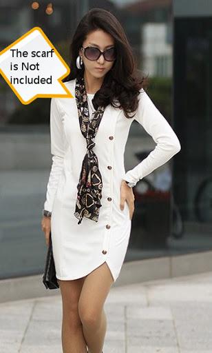 Женская одежда Платья Платье белого с длинными рукавами.  Ваша позиция.