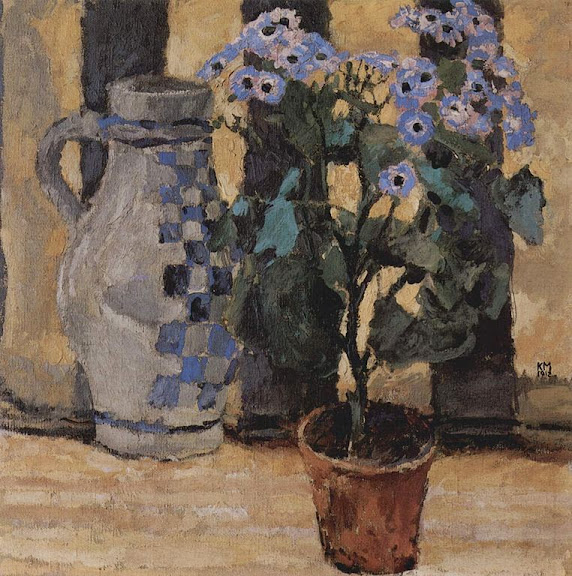 Koloman Moser - Blumenstock und Keramikkrug
