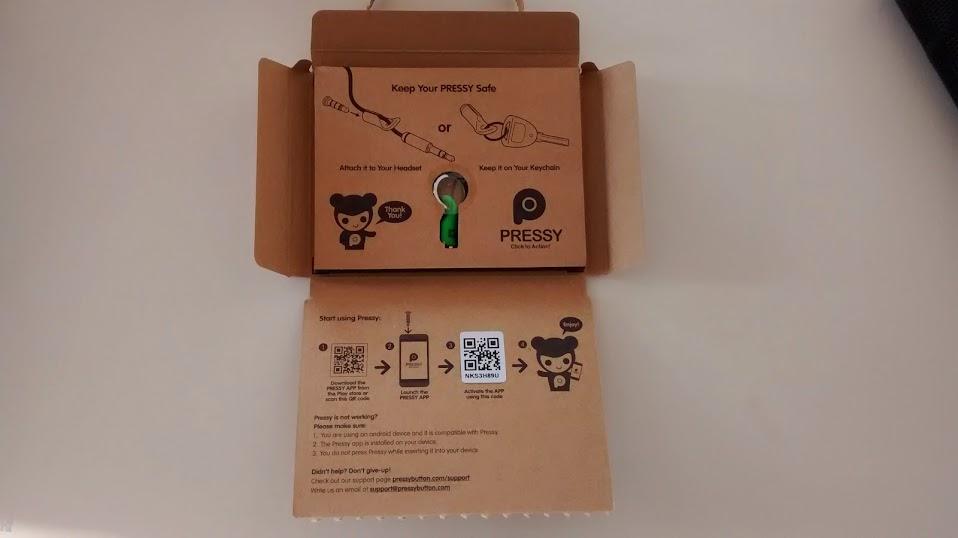 Pressy rozpakowanie pudełka
