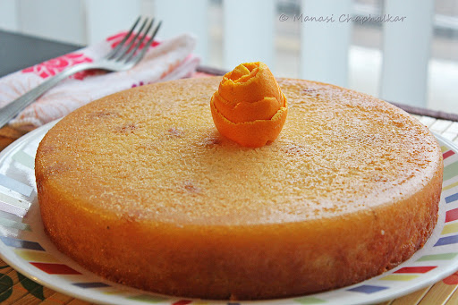 Orange Semolina Cakeor Rava Cake