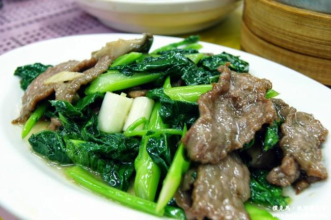 香港金寶茶餐廳芥藍牛肉