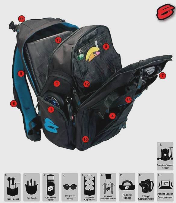 sac a dos Elyts Backpack ouvert et details