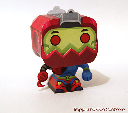Mini Trap Jaw Papercraft