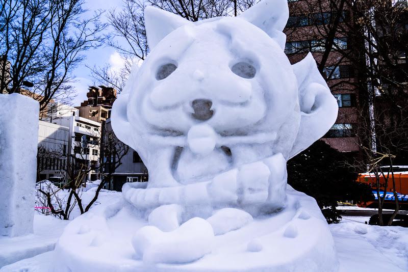さっぽろ雪まつり ジバニャン 写真