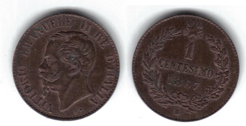 Mi colección de monedas italianas. 1%20centesimo%201867%20M