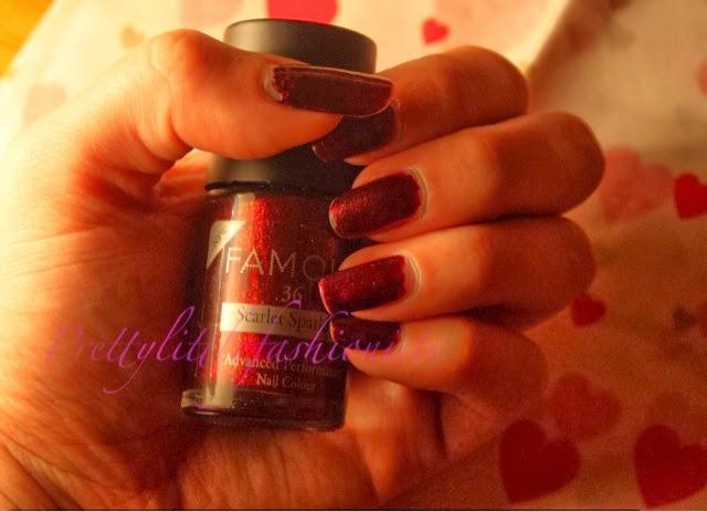NOTD: Famous Scarlet Sparkle