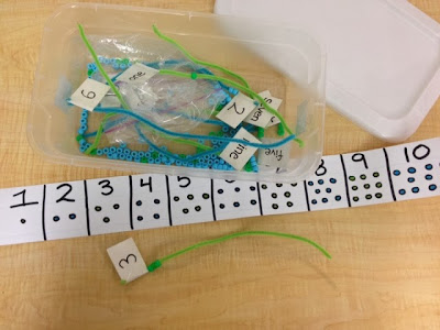 TEACCH counting and fine motor box
