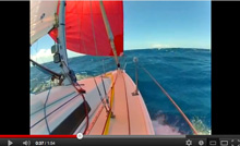 J/80 sailing off Hawaii's Molokai Channel FAST!