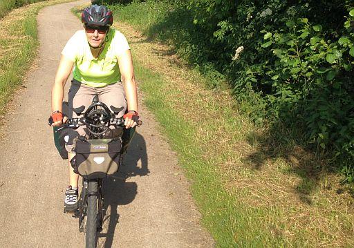 Miri on the Bike auf dem Ruhr-Radweg im östlichen Ruhrgebiet