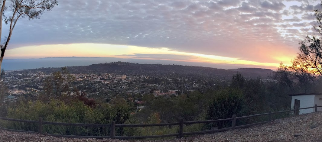 Santa Barbara from Franceschi Park, sunset