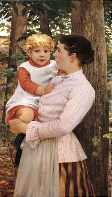 James Carroll Beckwith - Mother and Child
